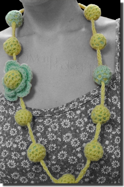My new passion is being born – Crochet Necklace