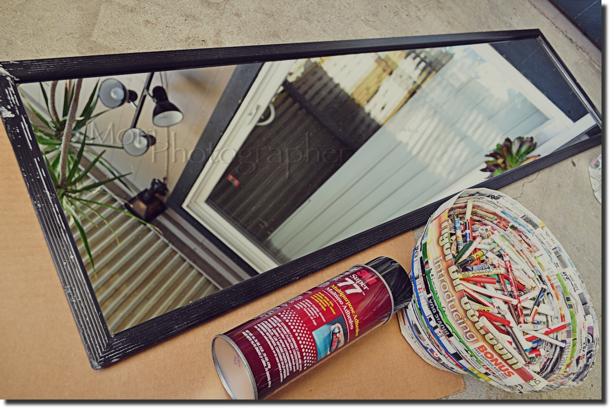 Recycled Magazine Mirror Frame | Mom Photographer