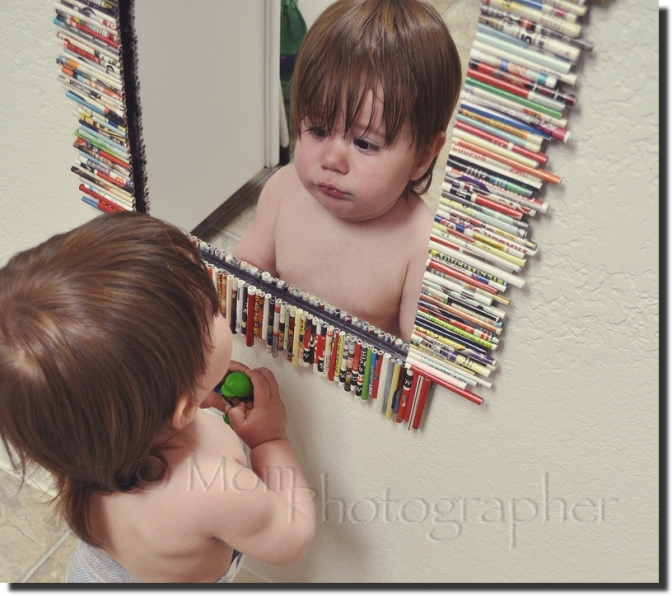 playing with the mirror