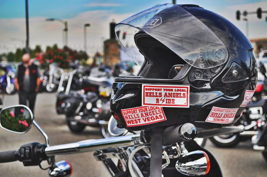 Bike ride, Hell's Angels funeral and shooting that we missed