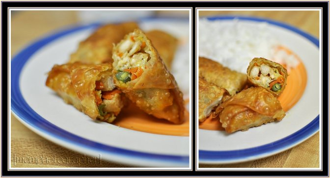 ewa samples chicken egg rolls