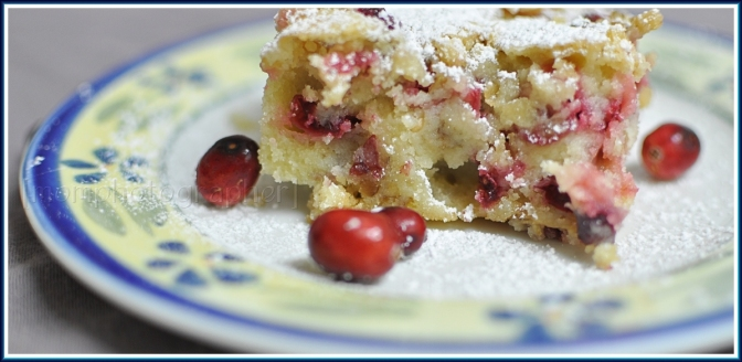 If you're sick bake a cake… Cranberry Walnuts Coffee Cake