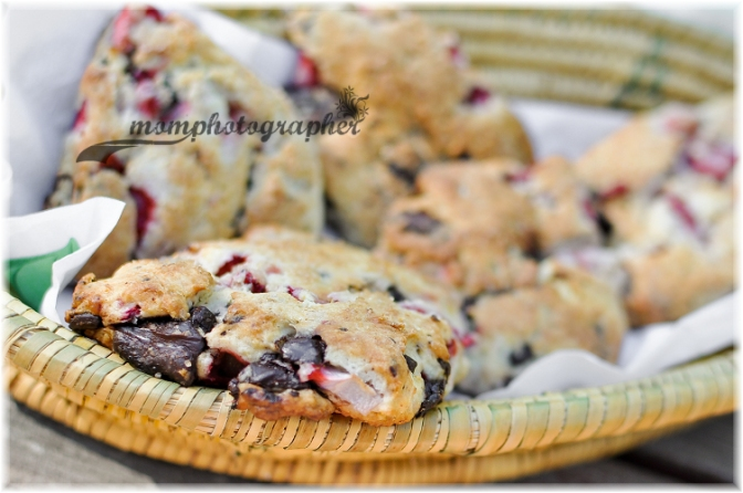 Strawberry Dark Chocolate Chunks Scone