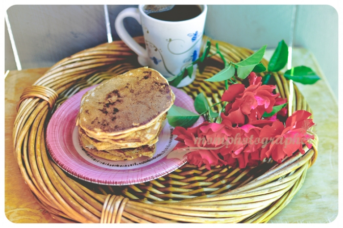 ewa samples, whole wheat blueberry banana pancakes
