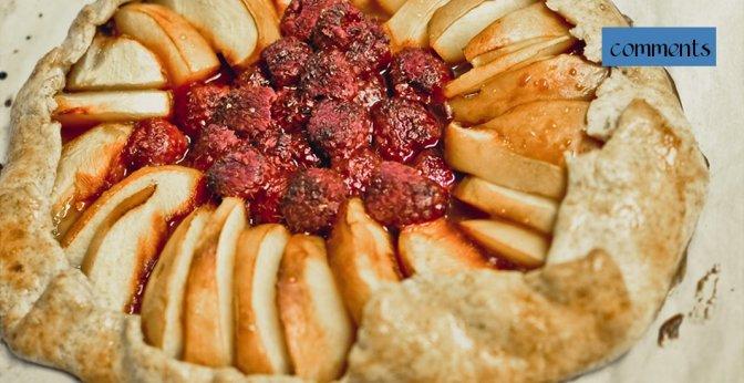 ewa samples, rye flour raspberry nectarine galette, header