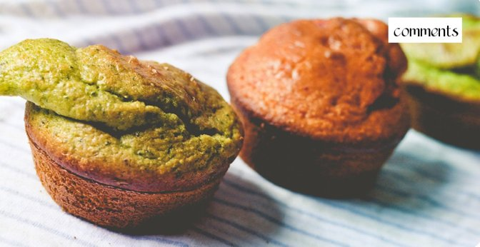 Spinach and Beet Cornbread Muffins