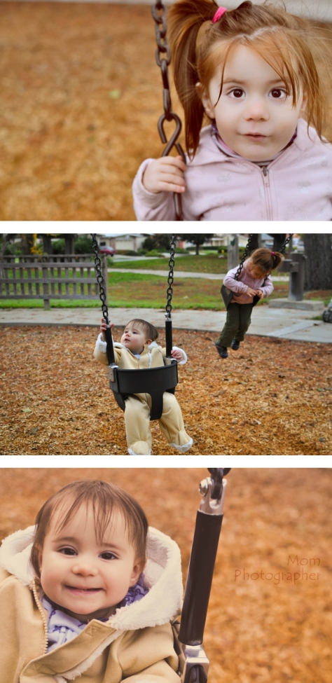 mom photographer, kids on the swing