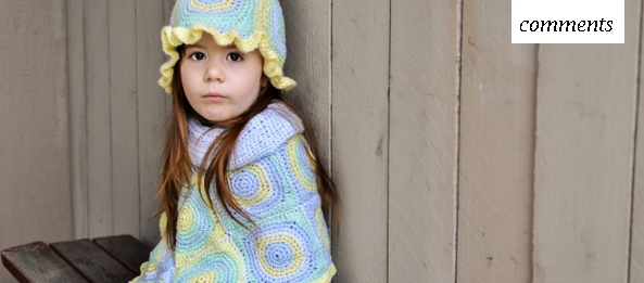 Crochet Granny Squares Kid's Poncho and Hat